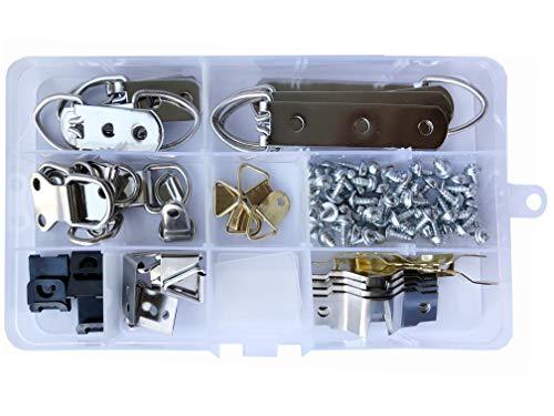 Afbeelding hanger │ zilver en goud │ 96 set │ 9 verschillende soorten❉ inclusief schroeven │ Ophangsysteem voor fotolijsten │ fotohouder │ by FD-Workstuff