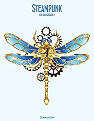 steampunk coloring book science fiction