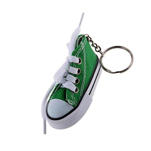 Bonarty Stilvolle Schnürschuhe Leinwand Sportschuh Charme Anhänger Schlüsselanhänger Schlüsselanhänger Schlüsselanhänger Geschenk - Grün