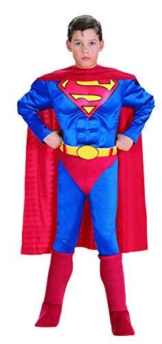 monde éblouissant Mejor Calidad Muscular en el Pecho Deluxe Niños de Disfraces de Superman (Rojo) ITG # 414