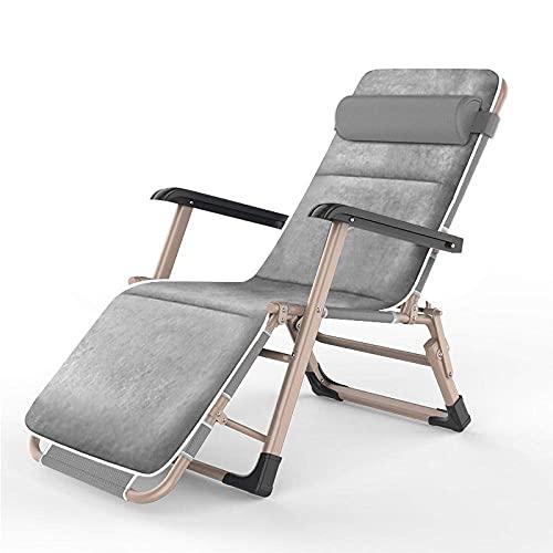 WGFGXQ Relaxer Chair,Folding Garden Chair, Household Lazy Lunch Chair, Balcony Sofa Chair Lounge Chair, Leisure Simple Back Chair-3