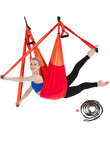 besbomig 6 Yard Decompressione Amaca Yoga Forma Corpo Antigravity Inversione Esercizi - Volare Yoga Swing Interno Sport