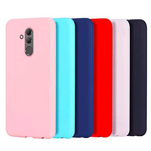6X Cover Huawei Mate 20 Lite, CaseLover Ultra Sottile Morbido TPU Silicone Custodia Mate 20 Lite Satinate Opaco Protezione Copertura Matte Gomma Gel Protettiva Caso Antiscivolo - 6 Colori