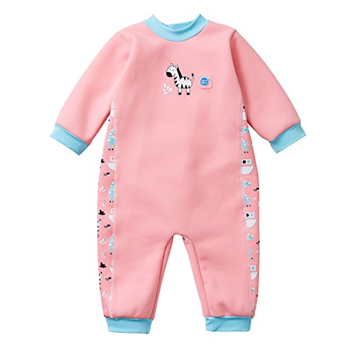 Splash About Kids' Warm in One Wetsuit,Pink(Nina's Ark),6-12 Months(Manufacture Size:L)