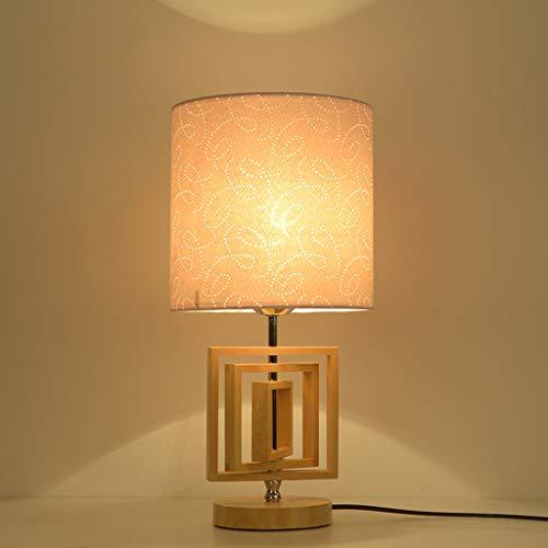 L¨¢mpara de mesa de madera de estilo japon¨¦s, iluminaci¨n nocturna creativa de la cama de la mini habitaci¨n, iluminaci¨n moderna del restaurante del hotel con l¨¢mpara LED(44x20cm)