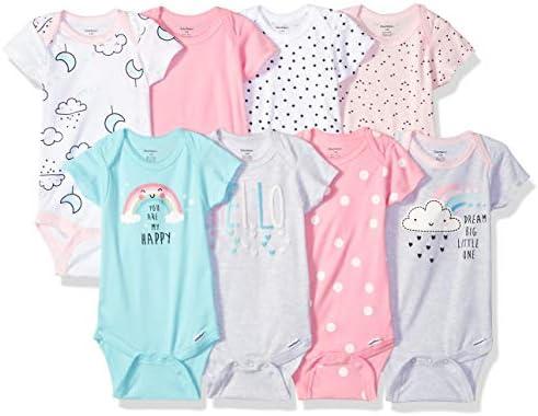 Gerber Baby 8 Pack Short Sleeve Onesies Bodysuits Clouds Newborn product image