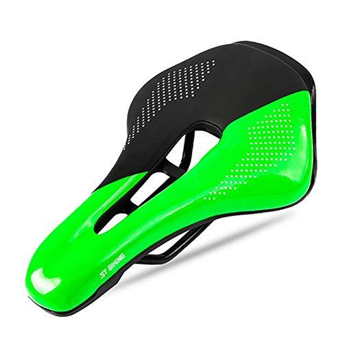 Sillines para Bicicletas Sillín De Bicicleta De Montaña MTB, Cuero PU, Cojín De Asiento Hueco para Ciclismo, Accesorios De Repuesto para Bicicleta (Color : 3)