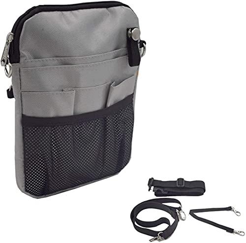 Bolso de la cintura Caja Enfermera Vet Pouch Bolsa de cintura Organizador de bolsillo con cinturón ajustable, organizador de bolsillo clínico para enfermera, partera, doctor Bolsillo ( Color : Grey )