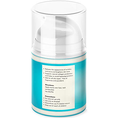 41wA7zgpHiL - 3% Retinol Face Moisturizer for Women - Anti Aging & Anti Wrinkle Cream that Works - 3.4 Oz
