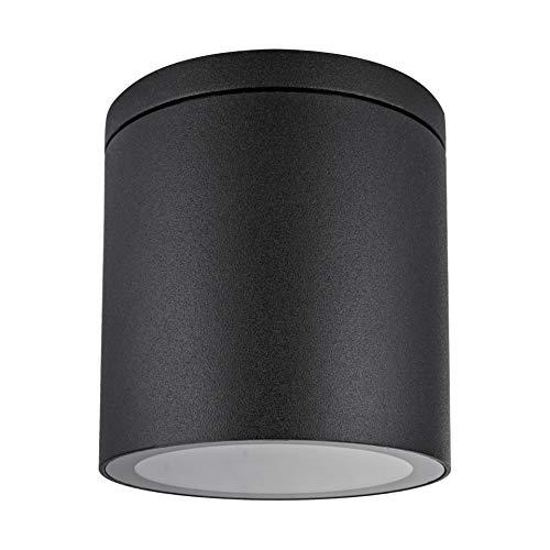 Aufbauleuchte Deckenleuchte Aufputz VENEZIA 18 (Rund, Schwarz) IP44 GU10 Fassung 230V Außenleuchte Strahler Deckenlampe Würfelleuchte CUBE Kronleuchter aus Aluminium Spot – ohne Leuchtmittel