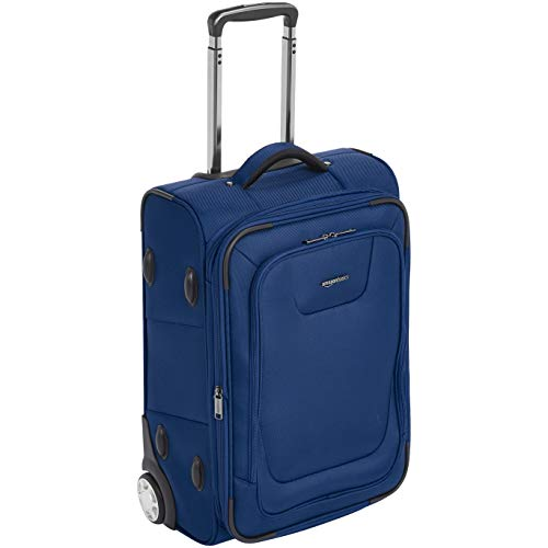 AmazonBasics Expandable Softside Carry-On Luggage Suitcase With TSA Lock And Wheels - 24 Inch, Blue