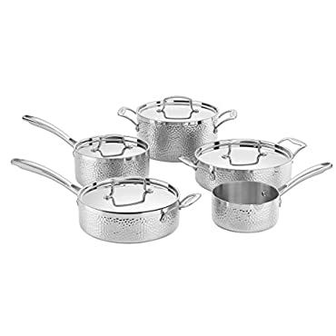 Cuisinart HTP-9 Hammered Collection Cookware Set, Medium, Stainless Steel