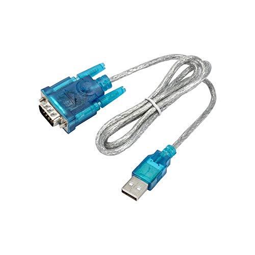 AKYGA AK-CO-02 - Cable Adaptador USB A 2.0 a RS-232 DB9 D-Sub de 9 Pines (1 m)