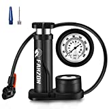 FAHZON Bike Pump Mini Portable Bicycle Foot Pump with Pressure Gauge Bike Tire Air Pump with Gas Ball Needle for All...