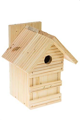 N/A Nistkasten Natur für Blaumeisen & kleine Meisenarten aus Holz -wetterfest, Vogelhaus für Meisen, Nisthilfe mit 28 mm Einflugloch Vogelhaus Meisenkasten Nisthöhle