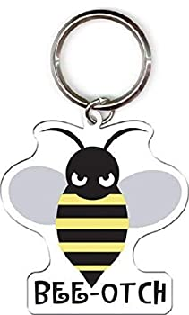 Evilkid Productions - Bee-otch Bumblebee - Double Sided Metal Keychain