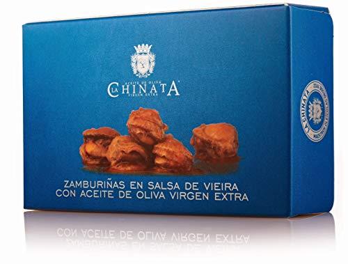 Zamburiñas en Salsa de Vieira con Aceite de Oliva Virgen Extra