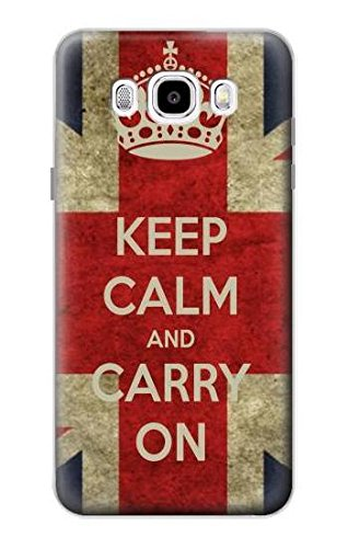 Innovedesire Keep Calm And Carry On Case Cover Custodia per Samsung Galaxy J5 (2016)