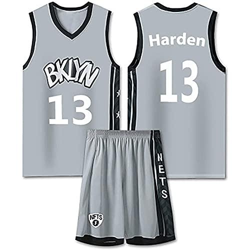 WAIY Jersey De Baloncesto Jāmēs Hārdēn # 13 Brooklyn Nets, Camiseta De Baloncesto para Hombre Tejido Elástico Profesional No Se Desvanece Limpieza Repetible Grey-M