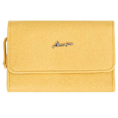 Geldbörse Börse Damen Alessandro Pastel Geldbeutel Portemonnaie Wallet Purse Frauen Large 2025 (Gelb (Pastell))