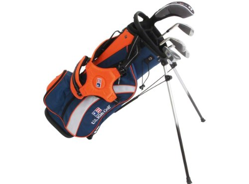 U.S. Kids Golf Starter-Set Ultralight 126-134 cm (51 Inch) RH/BLAU/ORANGE/UL400