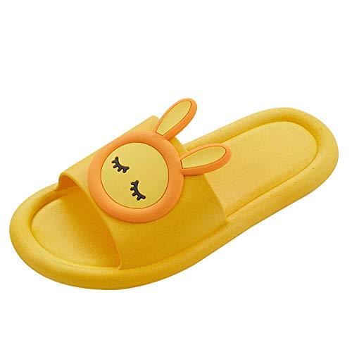 LLGG Zapatos de Playa Piscina Unisex Adulto,Baño de baño Pareja Zapatillas, Dibujos Animados de Canal Suave-Amarillo_36-37,Zapatillas Interior Piso
