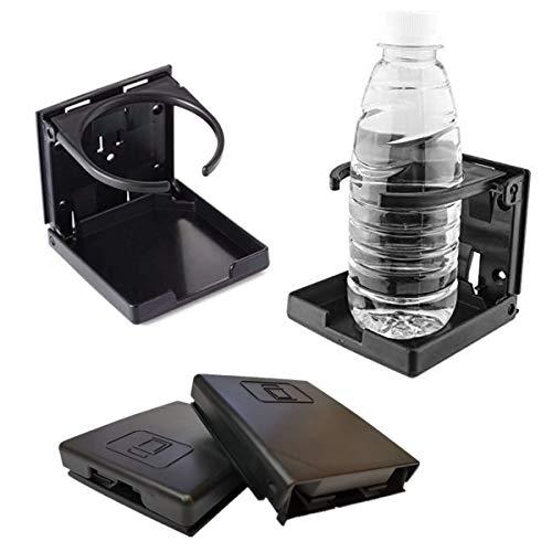 Xiuyer 4pcs Sostenedor Taza Bebida Universales Ajustable Negro Portavasos Plegable Botella Soporte Vaso para Coche Camión Barco Van