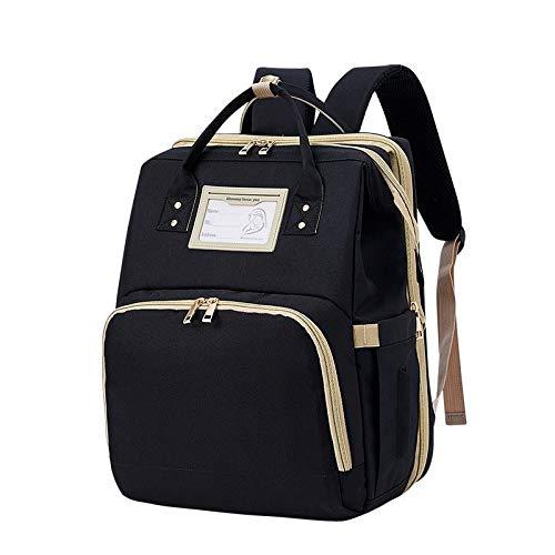 Angle-w Diseño elegante, viaje simple, bolsa de pañales de viaje mamá mochila portátil bebé cuna niño llevar cuna carga bebé grande cama bebé maternidad bolso cochecito bolsa 2 órdenes vamos más allá