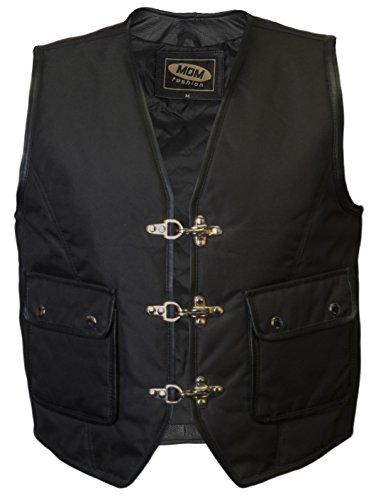 MDM Textil Bikerweste in schwarz (3XL)