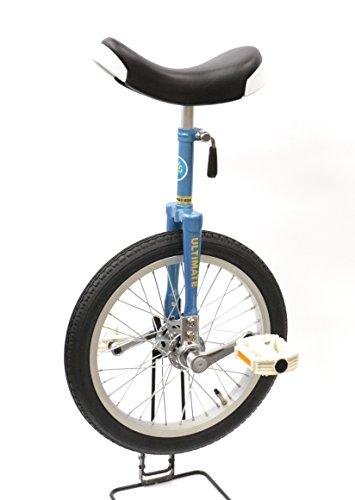"""どのスポーツのトレーニングにも一輪車は最適。 バランス感覚・体幹を鍛えられます!MYSオリジナルモデル""""Stay On Top""""【MYS16BL】コズミックブルー 16インチ 日本一輪車協会認定 ベルマーク参加商品 一輪車 ユニサイクル"""