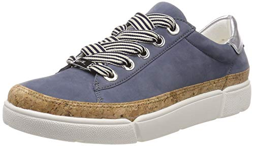 ARA Women's ROM 1214404 Low-Top Sneakers, Blue (Jeans, Natur/Silber 06), 6.5 UK