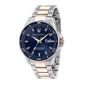 Maserati Reloj para Hombre, Colección Sfida, en Acero Inoxidable, PVD