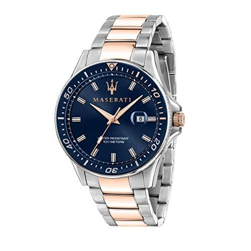 Maserati Reloj para Hombre, Colección Sfida, en Acero Inoxidable, PVD Oro Rosa, con Correa de Acero Inoxidable - R8853140003