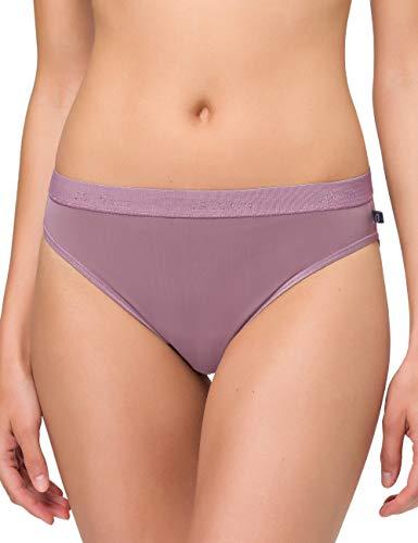 BeeDees Damen Slip Microfun Tai, Violett (Traube 565), 42