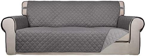 PureFit Reversible Quilted Sofa Cover, Water Resistant Slipcover Furniture Protector, Washable Throw Couch Cover with Non...