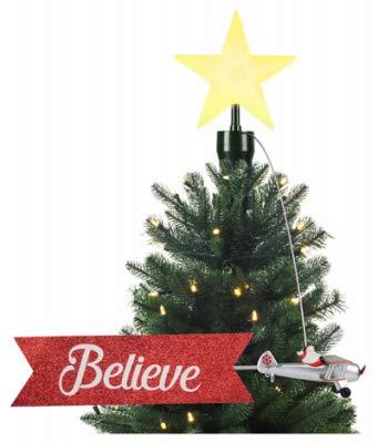 Mr. Christmas INC Santa's Biplane Tree Topper, One Size