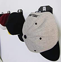 HAT-TAC - Stick Anywhere Cap Rack (4-Pack) Baseball Hat & PC/Xbox/PS4 Gaming Headset Multi-Purpose Wall Curved Hanger