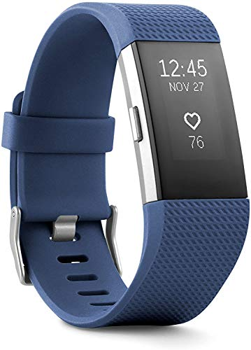 Charge 2 Superwatch Wireless Smart Activity and Fitness Tracker + Heart Rate and Sleep Monitor Smart Wristband(US Version) (Blue, Large)