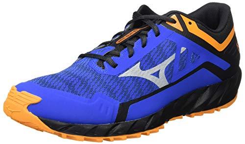 Mizuno Wave Ibuki 3, Zapatillas para Carreras de montaña para Hombre, Azul/Lunarrock/Forange, 46 EU