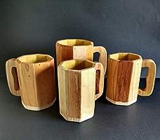 Jarras de cerveza de madera reciclada de palet hecho a mano PERSONALIZALA