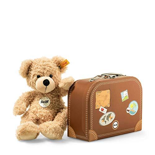 Steiff Teddybär Fynn im Koffer - 28 cm - Teddy Kuscheltier für Kinder - beweglich & waschbar - beige (111471)