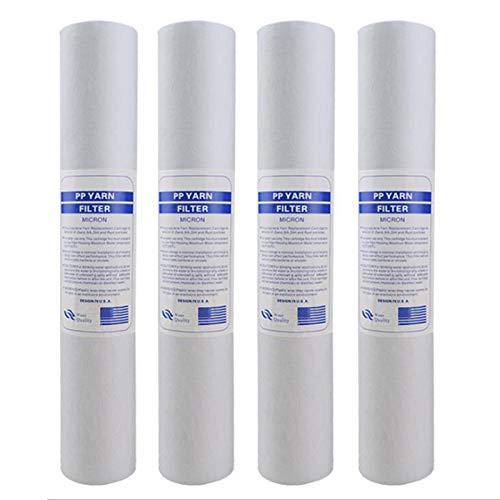 Casinlog 4 filtros purificadores de agua de 50 cm y 5 micrones, para sedimentos, de algodón, sistema de filtro de agua