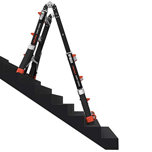 Little Giant Ladders, Dark Horse, M13, 7-11 foot, Multi-Position Ladder, Fiberglass, Type 1AA, 375 lbs weight rating, (15143-001)