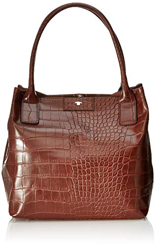 TOM TAILOR Damen Taschen & Geldbörsen Shopper Miri Croc braun/brown,OneSize