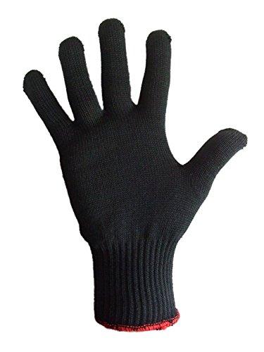 Power Hitzeschutzhandschuh für Lockenstab Glätteisen Haarglätter hitzebeständiger Handschuh aus Kevlar (M)