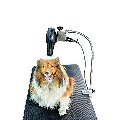 Gravitis Pet Supplies Soporte profesional para secador de pelo – Solo soporte – Adecuado para su uso con Gravitis profesional mesa de aseo para perros