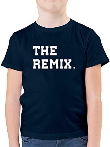 Partner-Look Familie Kind - The Original The Remix Kind - 104 (3/4 Jahre) - Dunkelblau - Vater Sohn Partnerlook - F130K - Kinder Tshirts und T-Shirt für Jungen