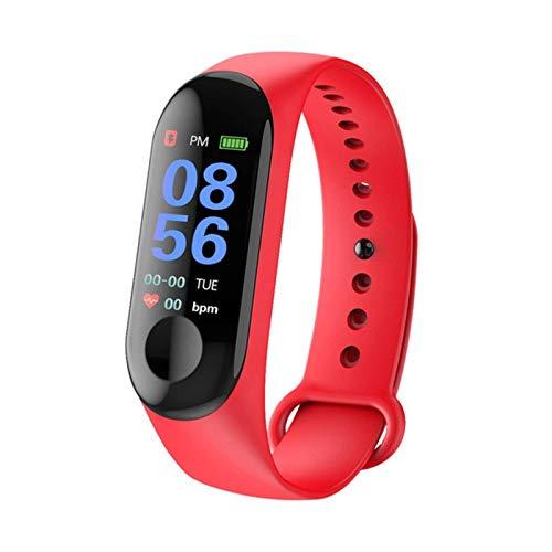 NC Reloj de pulsera Fitness M3 Pantalla de color inteligente Sport Pulsera Actividad Running Tracker Frecuencia Cardíaca para Niños Hombres Mujeres Reloj Horas
