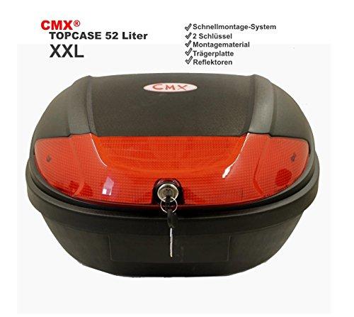 CMX Motorradkoffer Rollerkoffer Topcase 59x43x31cm 52L schwarz