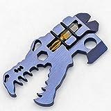 Herramienta multifunción de aleación de titanio, abridor de herramientas, destornillador, herramienta de bolsillo, portátil al aire libre